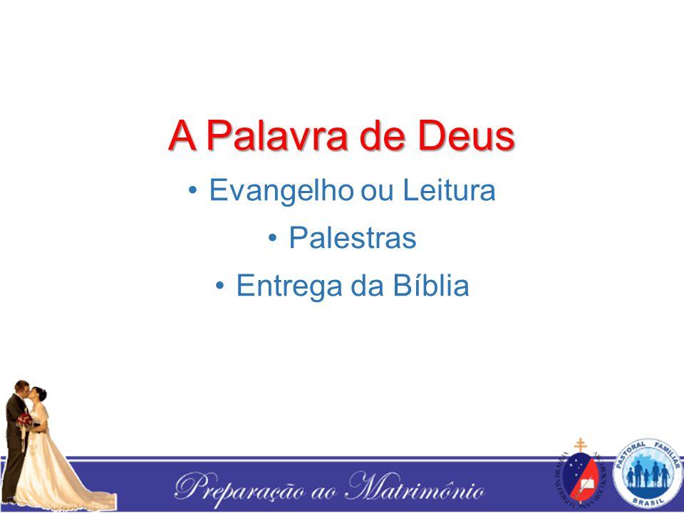A Palavra de Deus Evangelho ou Leitura Palestras Entrega da Bíblia