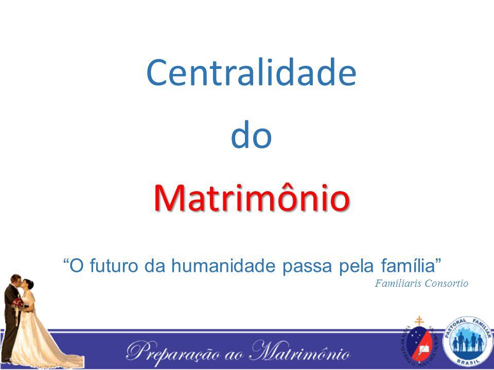 "Centralidade doMatrimônio ""O futuro da humanidade passa pela família"" Familiaris Consortio"