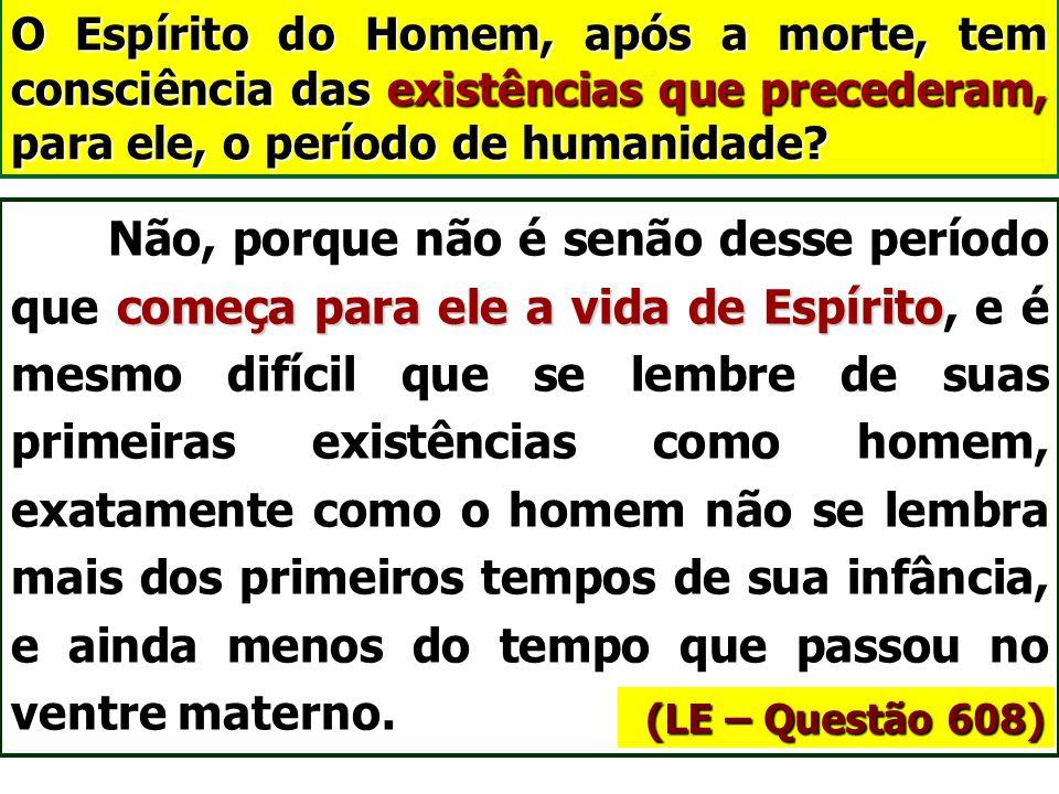 Primeiras encarnações (A Gênese Cap. XI, itens 15 e 16) Bem pode dar-se que corpos de macaco tenham servido de vestidura aos primeiros Espíritos human