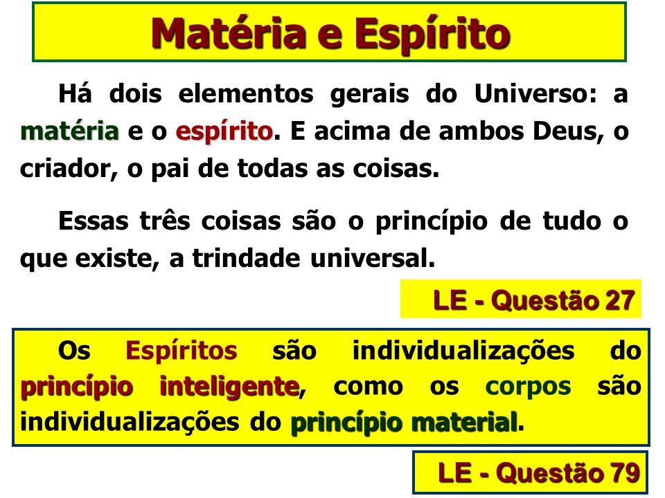 matériaespírito Há dois elementos gerais do Universo: a matéria e o espírito.