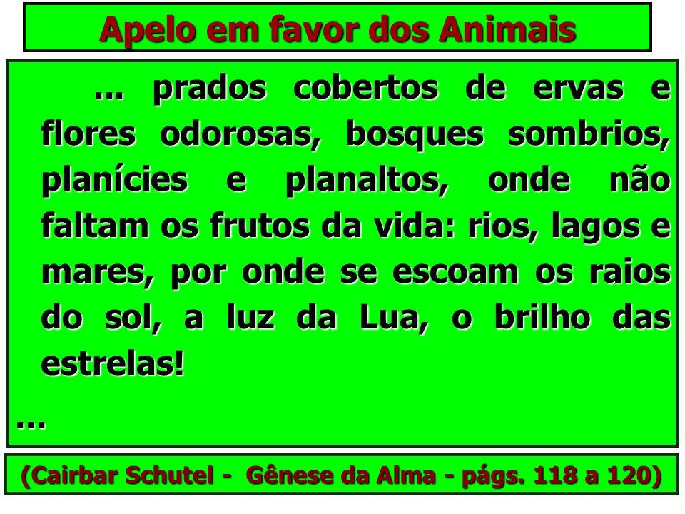 Apelo em favor dos Animais Lembrai-vos, amigos meus, que o Pai, em sua infinita misericórdia cerca-os de carinhos, e, prevendo a deficiência de seus E