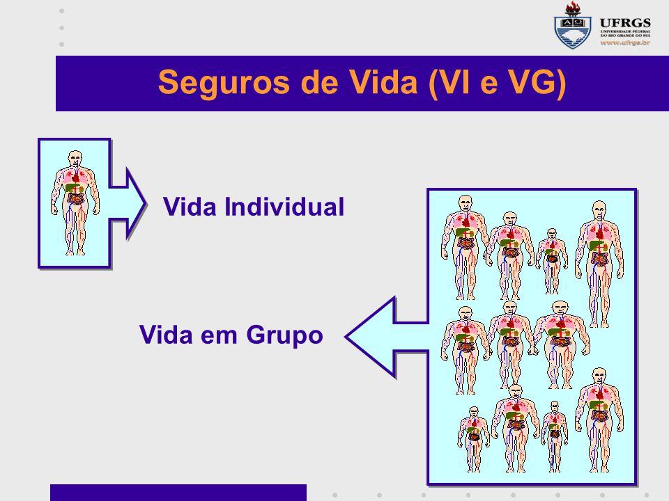 Seguros de Vida (VI e VG) Vida Individual Vida em Grupo