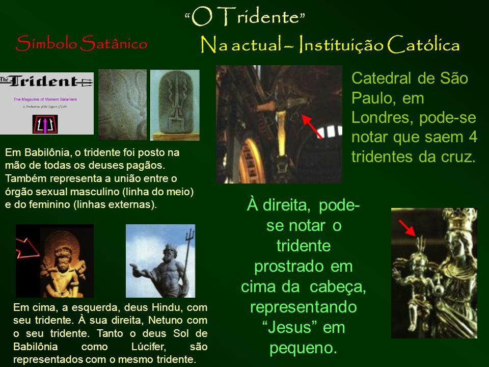 """Símbolo Satânico Na atual – Instituição Católica """"Corsier"""", bastão da serpente """"Deusa"""" Atena, com o bastão """"corsier"""" bastão em forma de serpente na su"""