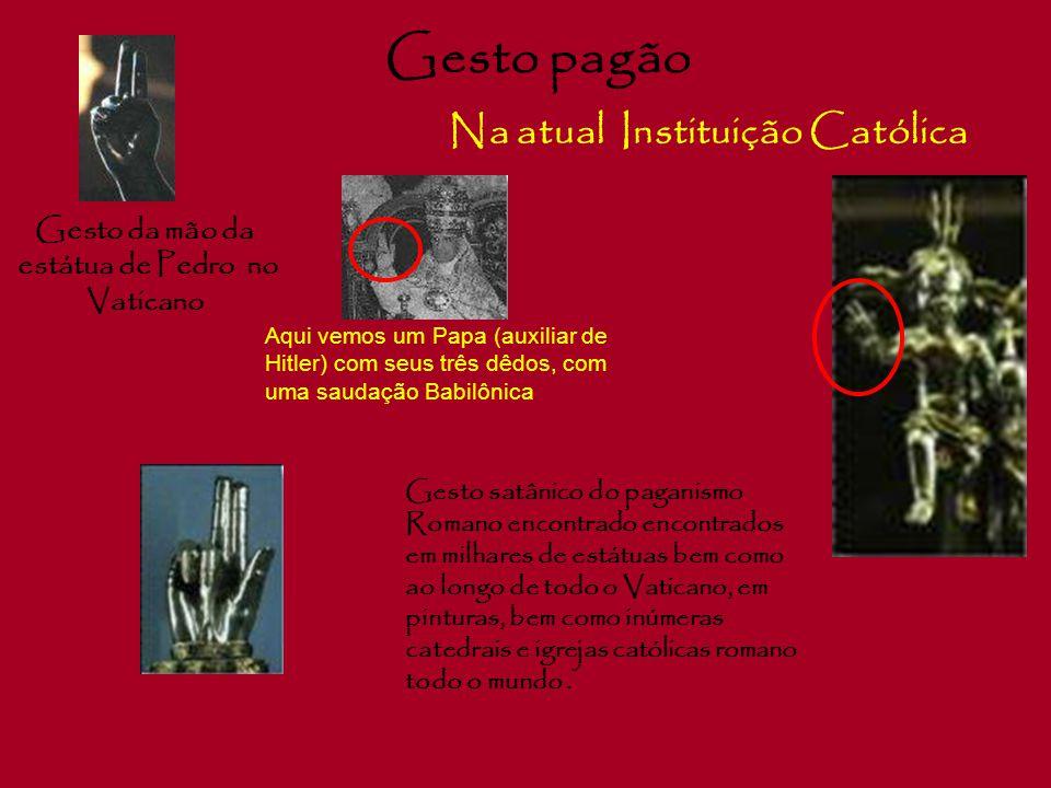 """Símbolo Satânico Na actual – Instituição Católica """" O Tridente """" Em Babilônia, o tridente foi posto na mão de todas os deuses pagãos. Também represent"""