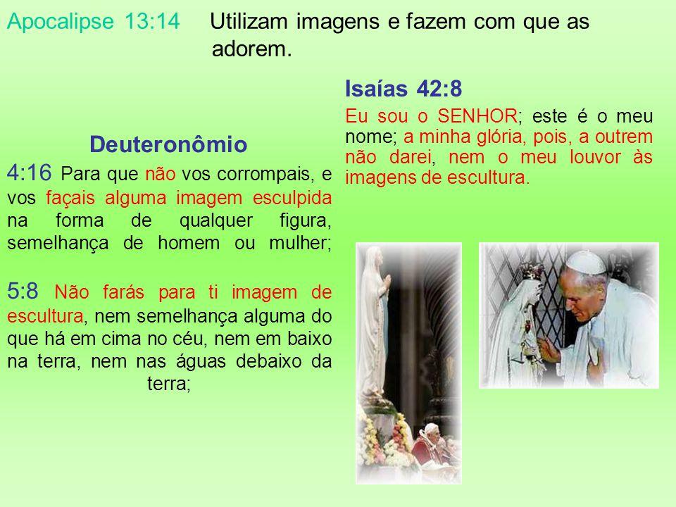 Apocalipse 13:14 Apocalipse 13:14 E engana os que habitam na terra com sinais que lhe foi permitido que fizesse em presença da besta, dizendo aos que
