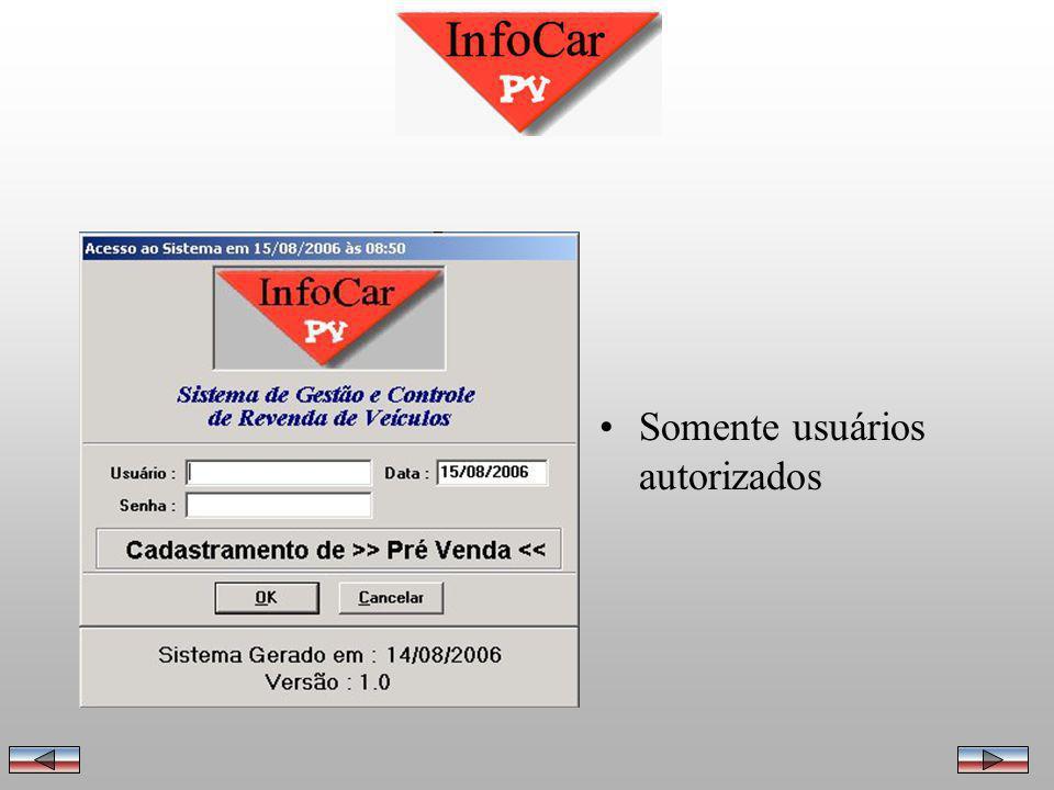 Até este momento, o InfoCar sempre foi utilizado como uma ferramenta de gerenciamento da loja, apurando lucro, calculando comissões, valor de retorno.
