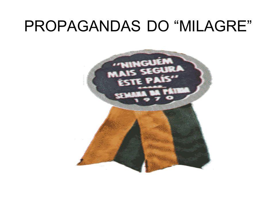 """PROPAGANDAS DO """"MILAGRE"""""""