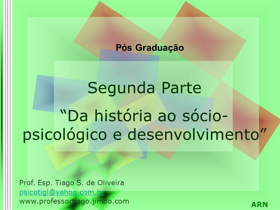 ARN Segunda Parte Da história ao sócio- psicológico e desenvolvimento Pós Graduação Prof.