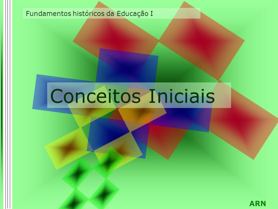 ARN Conceitos Iniciais Fundamentos históricos da Educação I