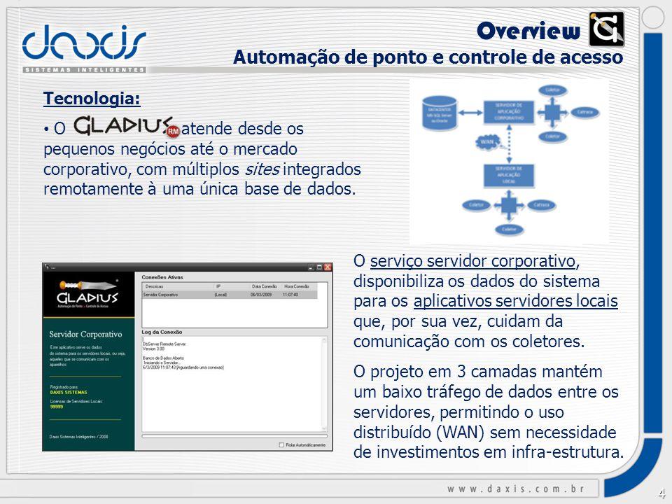 3 O que é: é o aplicativo de controle de acesso e automação de ponto homologado nacionalmente para o produto TOTVS RM.