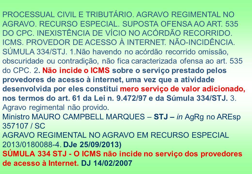 PROCESSUAL CIVIL E TRIBUTÁRIO.AGRAVO REGIMENTAL NO AGRAVO.