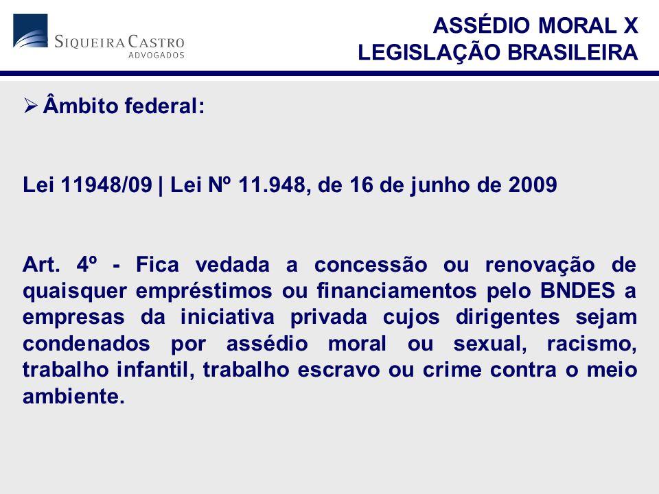  Âmbito federal: Lei 11948/09   Lei Nº 11.948, de 16 de junho de 2009 Art. 4º - Fica vedada a concessão ou renovação de quaisquer empréstimos ou fina