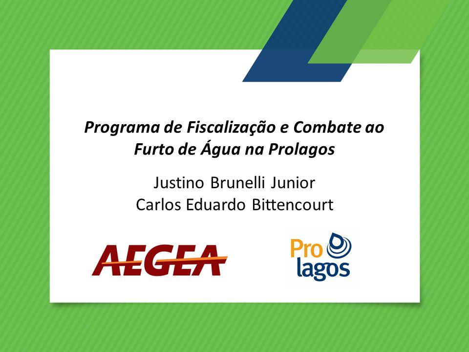 Programa de Fiscalização e Combate ao Furto de Água na Prolagos Justino Brunelli Junior Carlos Eduardo Bittencourt