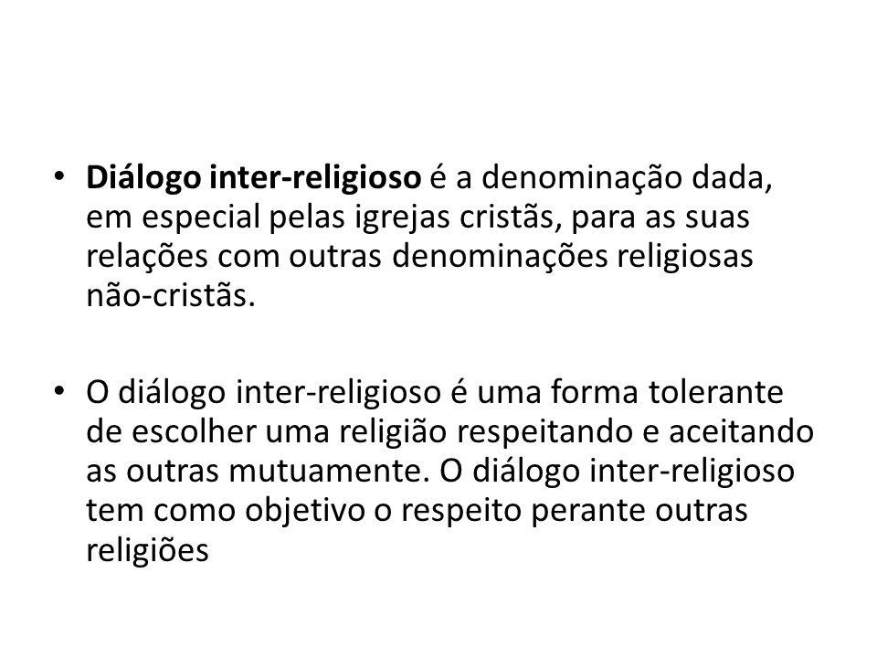 Diálogo inter-religioso é a denominação dada, em especial pelas igrejas cristãs, para as suas relações com outras denominações religiosas não-cristãs.