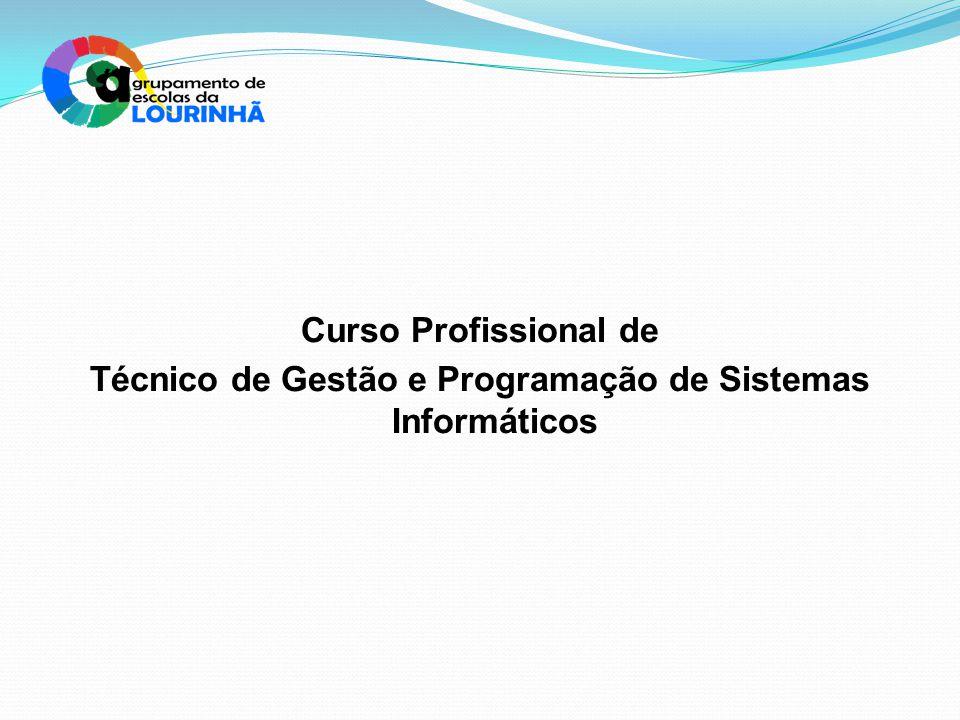 Curso Profissional de Técnico de Gestão e Programação de Sistemas Informáticos