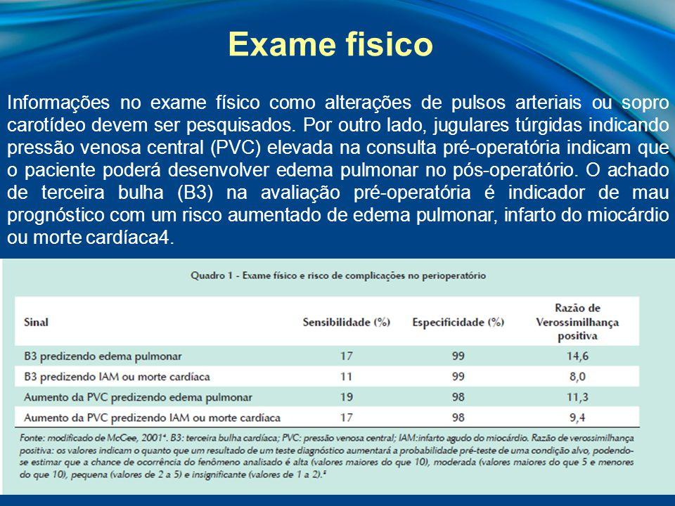 A análise do eletrocardiograma (ECG) pode permitir a identificação de pacientes com alto risco cardíaco operatório1.