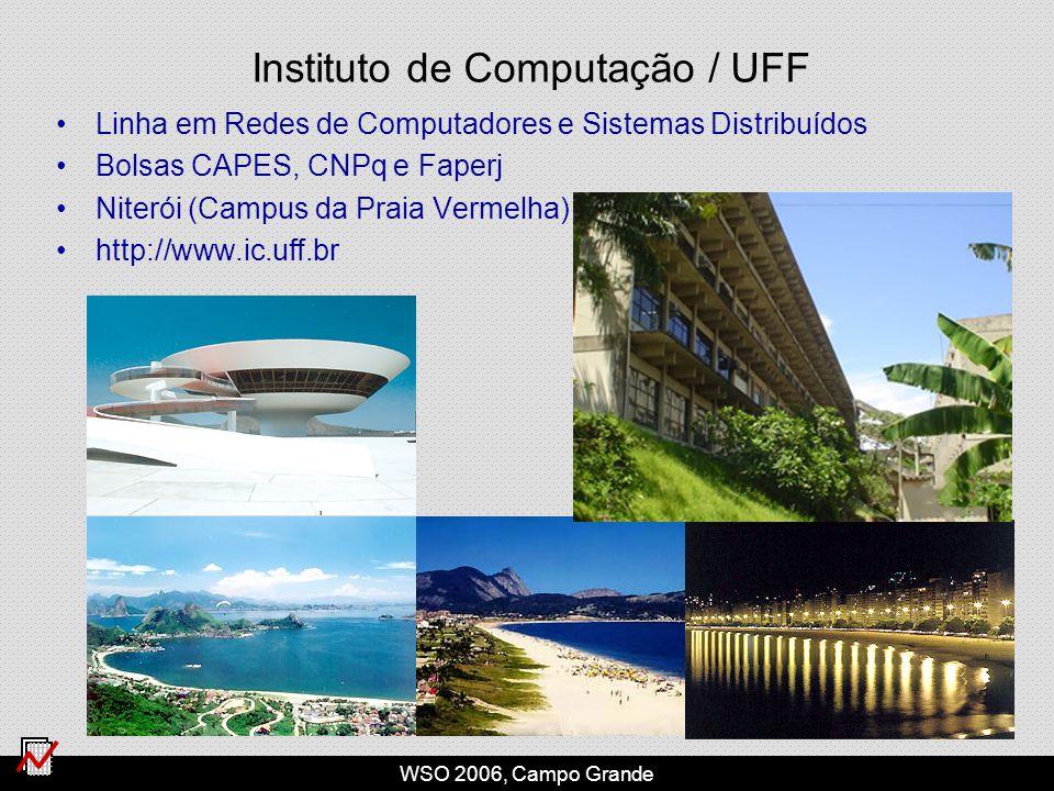 WSO 2006, Campo Grande Instituto de Computação / UFF Linha em Redes de Computadores e Sistemas Distribuídos Bolsas CAPES, CNPq e Faperj Niterói (Campus da Praia Vermelha) http://www.ic.uff.br