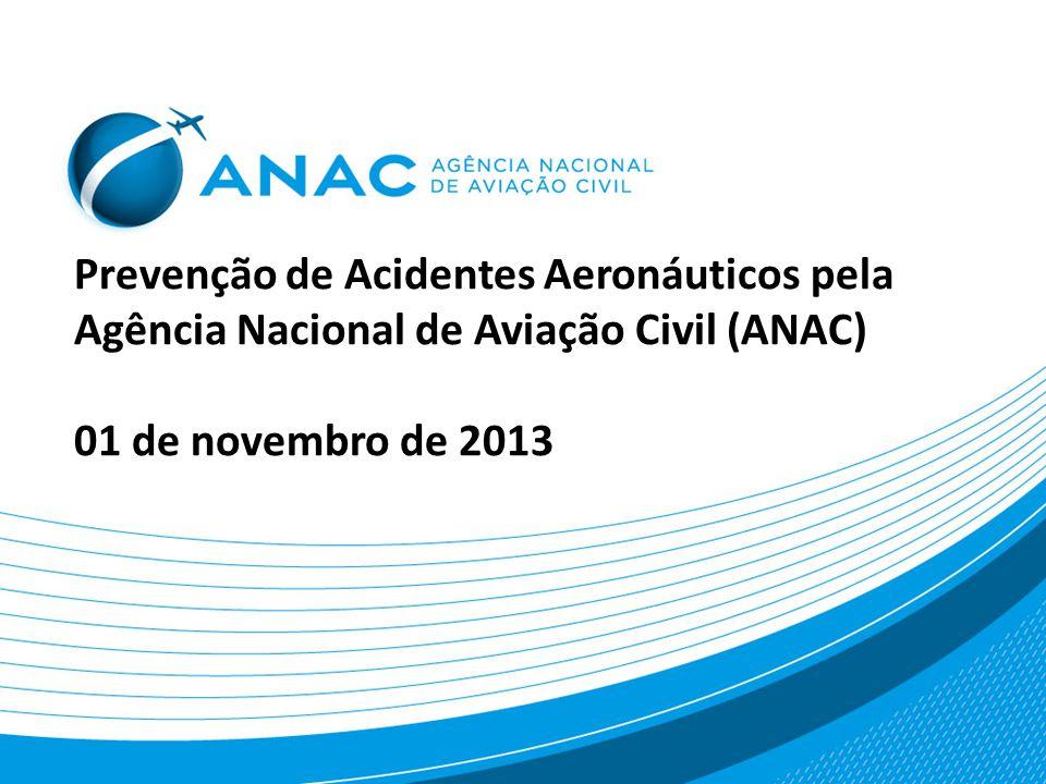 Prevenção de Acidentes Aeronáuticos pela Agência Nacional de Aviação Civil (ANAC) 01 de novembro de 2013
