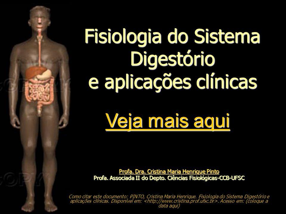 Profa. Dra. Cristina Maria Henrique Pinto Profa. Dra. Cristina Maria Henrique Pinto Profa. Associada II do Depto. Ciências Fisiológicas-CCB-UFSC Como