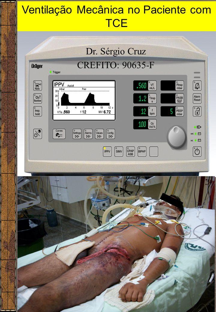 1 Ventilação Mecânica no Paciente com TCE Dr. Sérgio Cruz CREFITO: 90635-F
