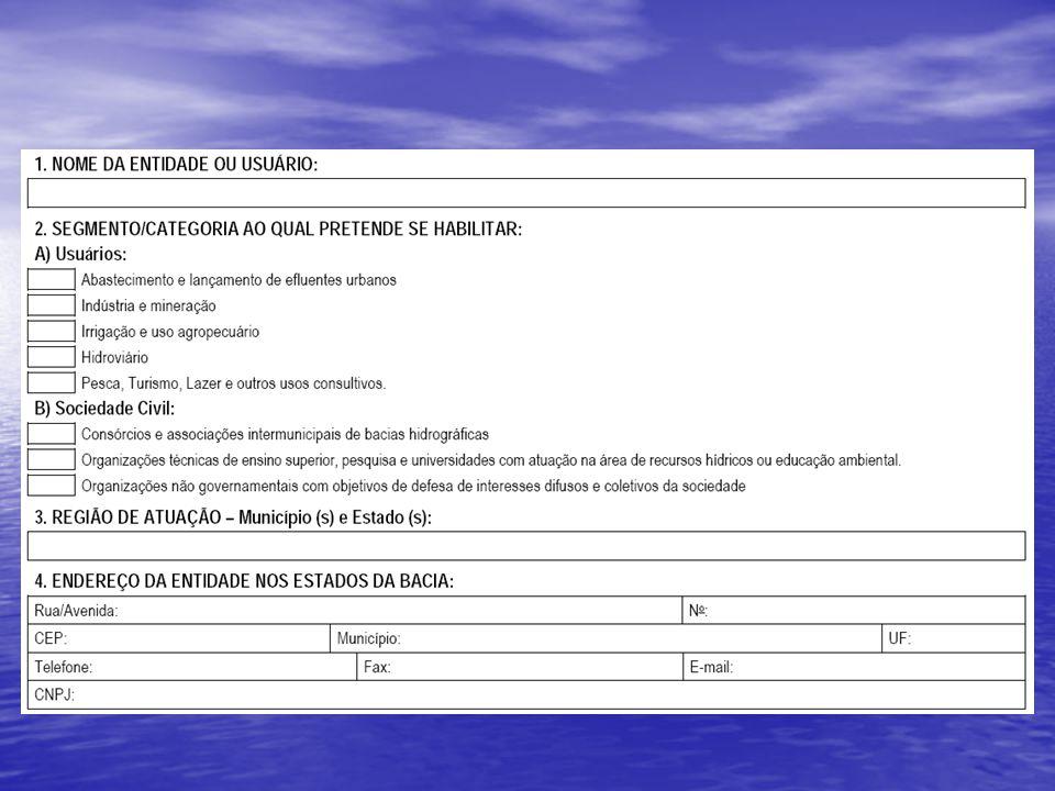 Como preencher o formulário de inscrição ? Processo Eleitoral do CBH-São Francisco