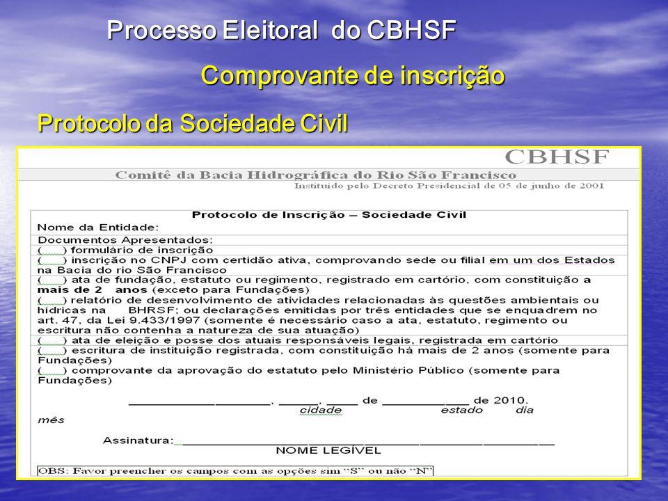 Processo Eleitoral do CBH-São Francisco Se você é membro titular ou suplente do CBH-SF saiba que: Se você é membro titular ou suplente do CBH-SF saiba que: Só precisa preencher o formulário de inscrição e encaminhar para a Secretaria Executiva do CBH- São Francisco.