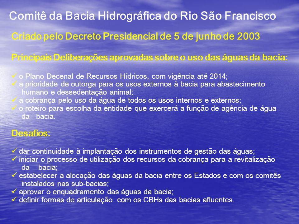 COMPOSIÇÃO DO CBH-SÃO FRANCISCO GESTÃO 2007/2010 62 Membros Titulares e 62 Membros Suplentes