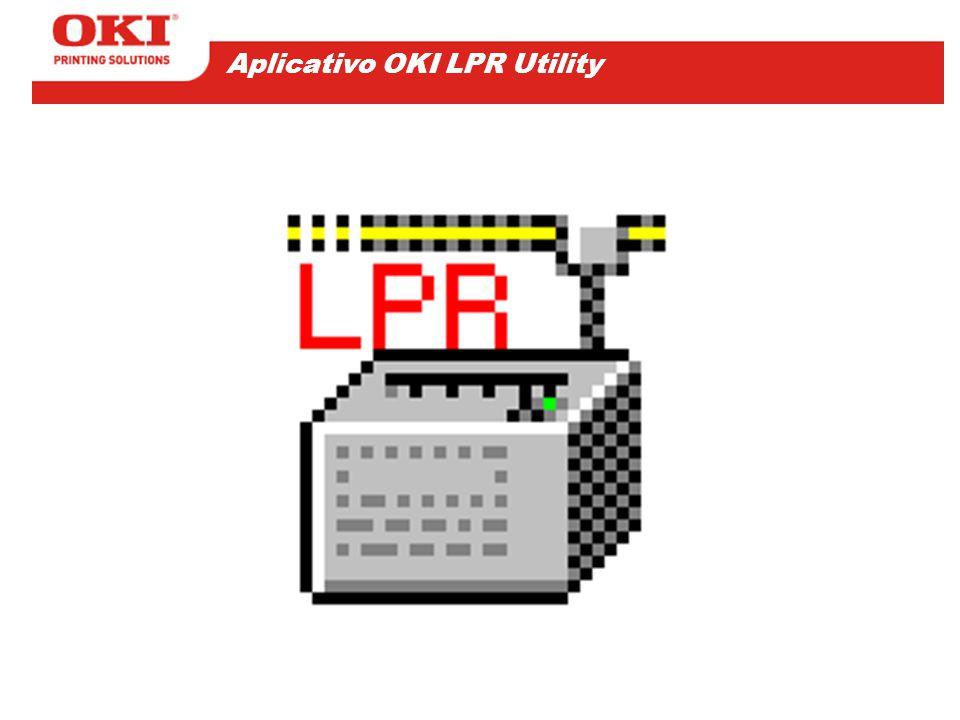O utilitário OKI LPR facilita a configuração de um driver de impressora OKI, possibilitando imprimir diretamente para sua porta de Rede.