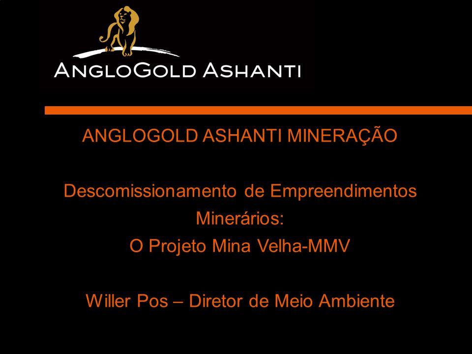 Real Estate Development ANGLOGOLD ASHANTI MINERAÇÃO Descomissionamento de Empreendimentos Minerários: O Projeto Mina Velha-MMV Willer Pos – Diretor de