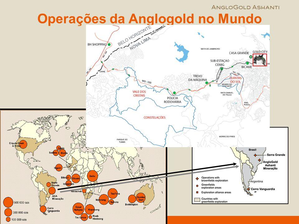 Operações da Anglogold no Mundo
