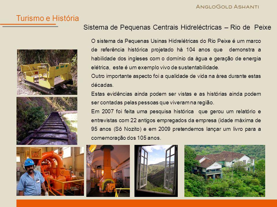 O sistema da Pequenas Usinas Hidrelétricas do Rio Peixe é um marco de referência histórica projetado há 104 anos que demonstra a habilidade dos ingles