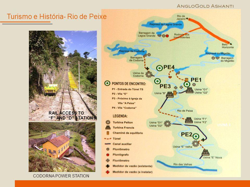 """RAIL ACCESS TO """"F"""" AND """"D"""" STATIONS USINA E Turismo e História- Rio de Peixe CODORNA POWER STATION"""