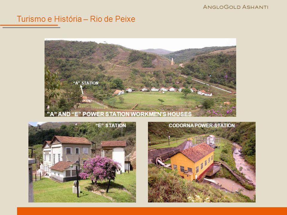 """""""E"""" STATIONCODORNA POWER STATION """"A"""" AND """"E"""" POWER STATION WORKMEN'S HOUSES """"A"""" STATION Turismo e História – Rio de Peixe"""