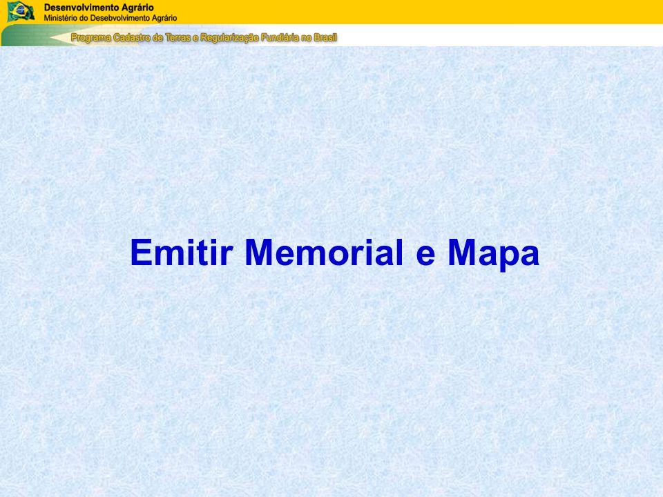 Emitir Memorial e Mapa