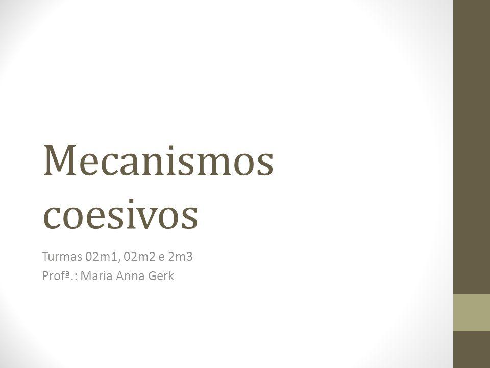 Mecanismos coesivos Turmas 02m1, 02m2 e 2m3 Profª.: Maria Anna Gerk