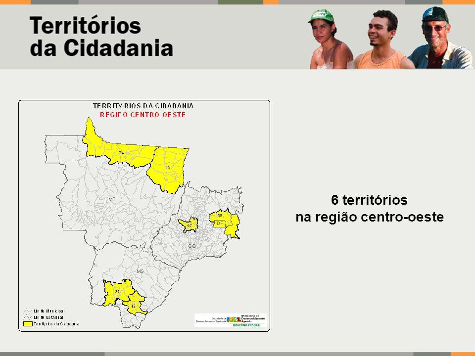 6 territórios na região centro-oeste