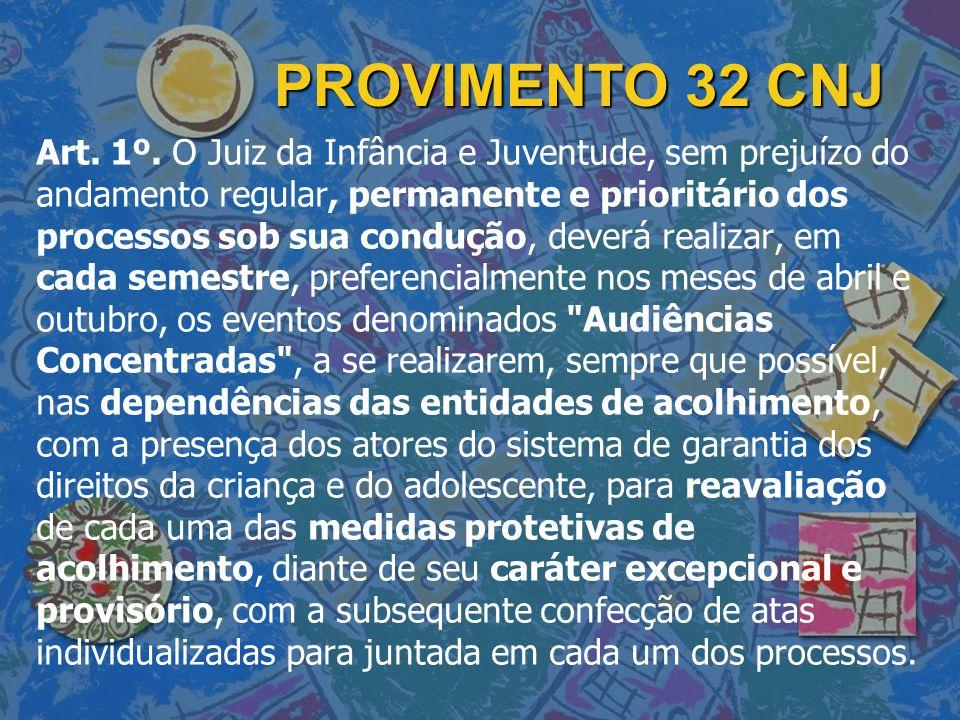 PROVIMENTO 32 CNJ Art.1º.