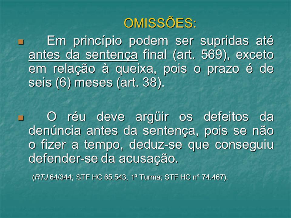 PRAZO PARA O OFERECIMENTO DA DENÚNCIA (art.