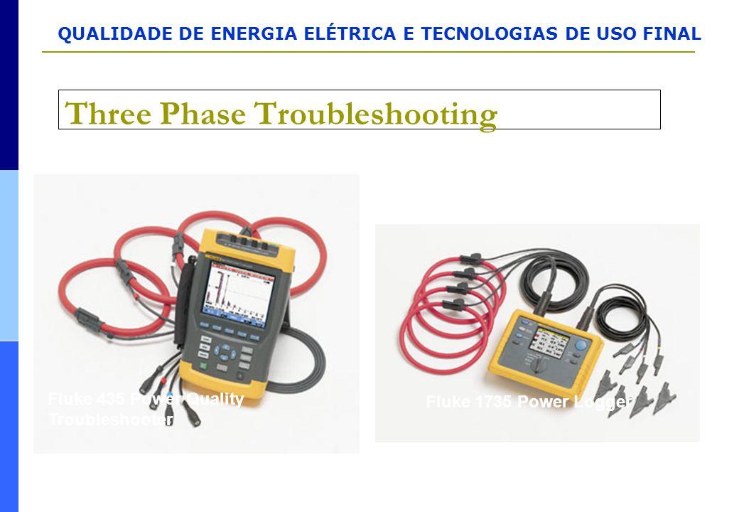 QUALIDADE DE ENERGIA ELÉTRICA E TECNOLOGIAS DE USO FINAL Three Phase Troubleshooting Fluke 435 Power Quality Troubleshooter Fluke 1735 Power Logger