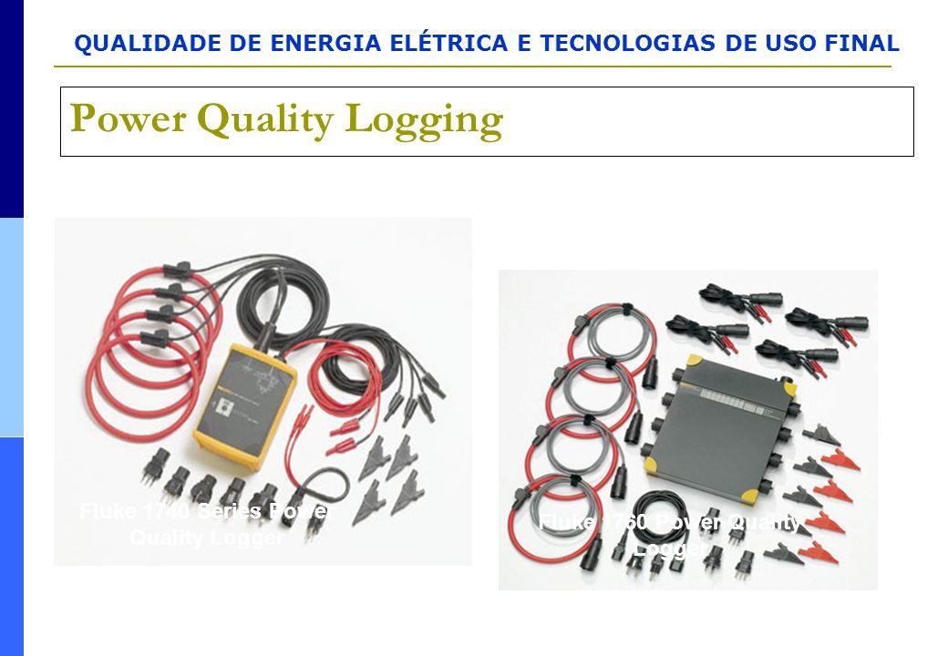 QUALIDADE DE ENERGIA ELÉTRICA E TECNOLOGIAS DE USO FINAL Power Quality Logging Fluke 1740 Series Power Quality Logger Fluke 1760 Power Quality Logger