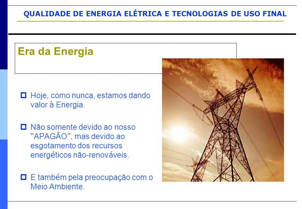 """QUALIDADE DE ENERGIA ELÉTRICA E TECNOLOGIAS DE USO FINAL  Hoje, como nunca, estamos dando valor à Energia.  Não somente devido ao nosso """" APAGÃO """","""