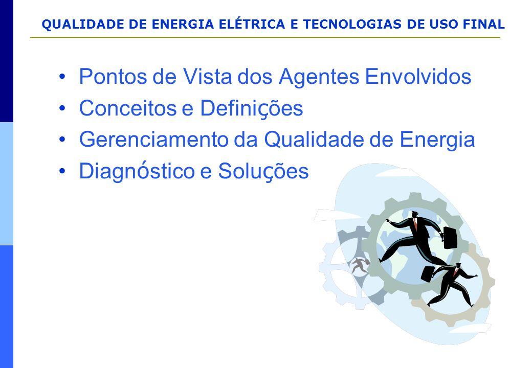 QUALIDADE DE ENERGIA ELÉTRICA E TECNOLOGIAS DE USO FINAL Pontos de Vista dos Agentes Envolvidos Conceitos e Defini ç ões Gerenciamento da Qualidade de