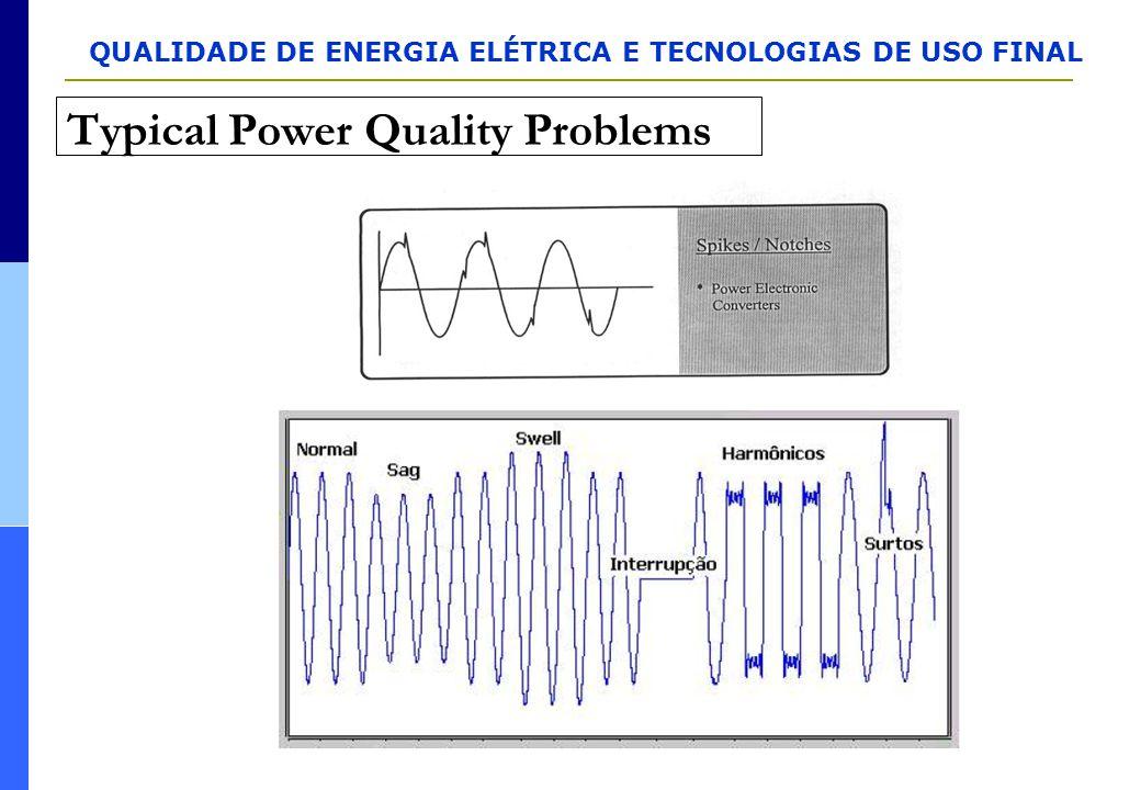 QUALIDADE DE ENERGIA ELÉTRICA E TECNOLOGIAS DE USO FINAL Typical Power Quality Problems