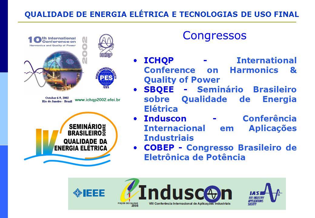 QUALIDADE DE ENERGIA ELÉTRICA E TECNOLOGIAS DE USO FINAL Congressos ICHQP - International Conference on Harmonics & Quality of Power SBQEE - Seminário