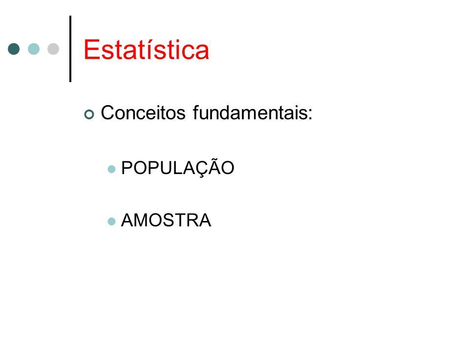 Estatística Conceitos fundamentais: POPULAÇÃO AMOSTRA