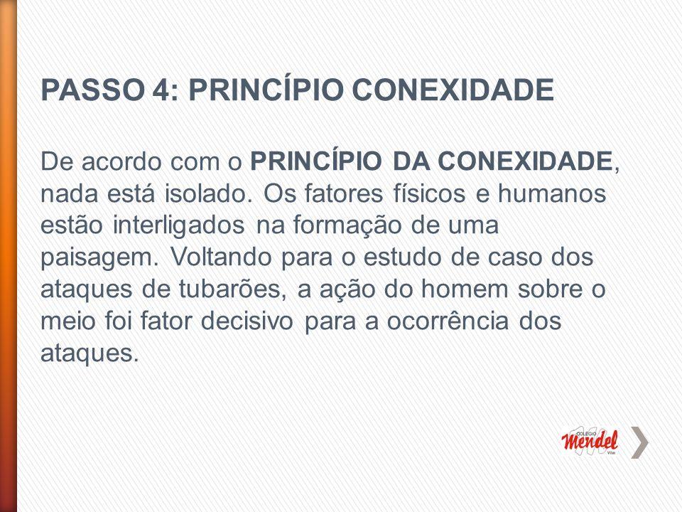 PASSO 4: PRINCÍPIO CONEXIDADE De acordo com o PRINCÍPIO DA CONEXIDADE, nada está isolado.