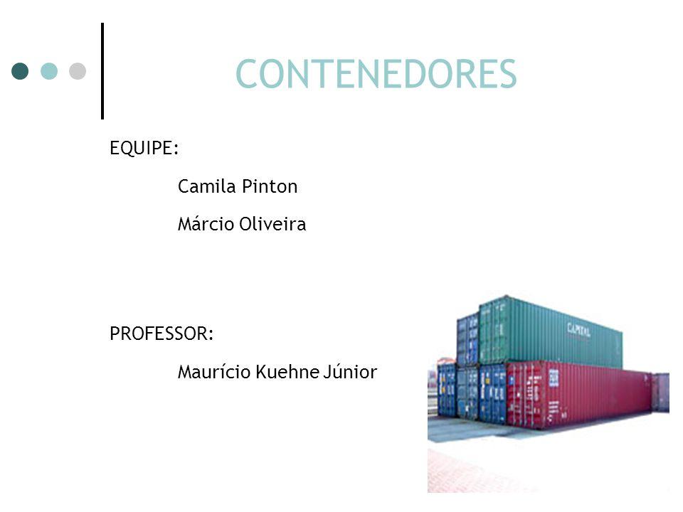 CONTENEDORES EQUIPE: Camila Pinton Márcio Oliveira PROFESSOR: Maurício Kuehne Júnior
