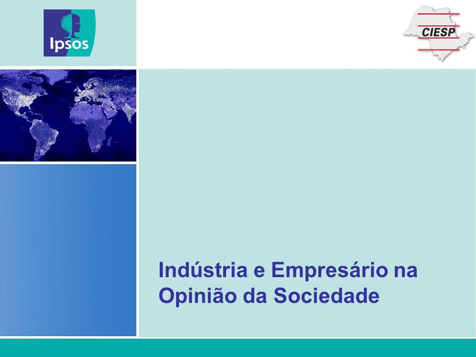 Indústria e Empresário na Opinião da Sociedade