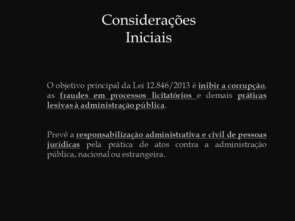 Inovações da Lei 12.846/2013  Atender: exigências internacionais no combate à corrupção.