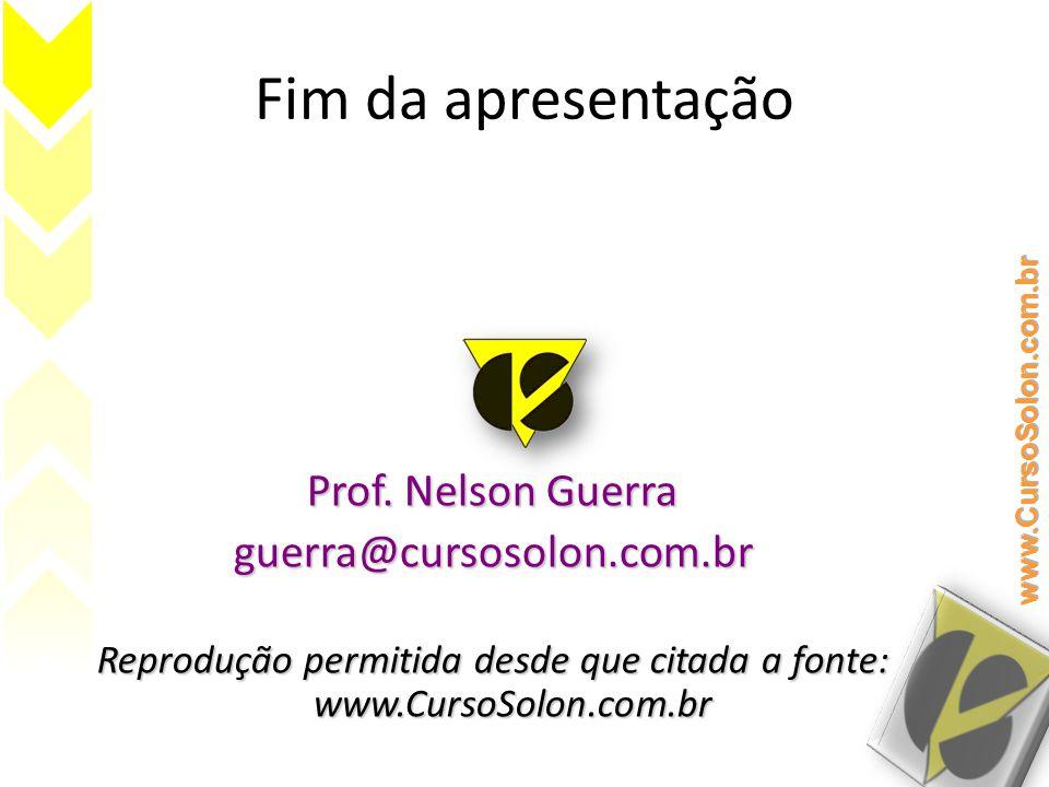 Fim da apresentação Prof.
